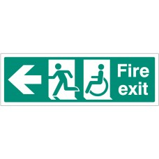 Disabled Fire Exit - Arrow Left