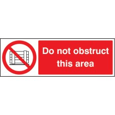 Do Not Obstruct this Area