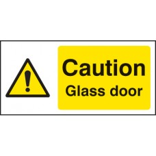 Caution Glass Door