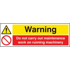 Warning Do Not Carry Out Maintenance Etc