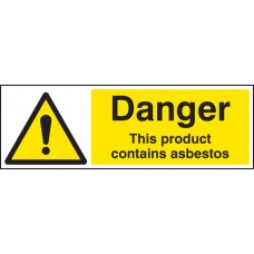 Danger this Product Contains Asbestos