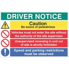 Driver notice Be aware of pedestrians, Unsupervised reversing forbidden?