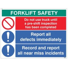 Forklift Safety Report defects and near misses?