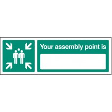 Your Assembly Point Is - Rigid Plastic - 150 x 50mm