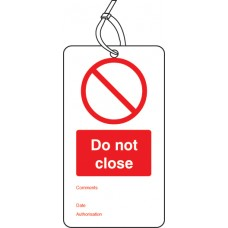 10 x Do Not Close - Double Sided Tags