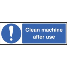 Clean Machine After use