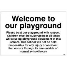 Welcome to our playground notice