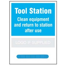 Tool Station Shadow Board with 300mm magnetic rail
