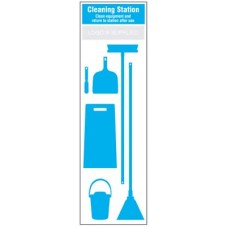 Cleaning Station Shadow Board - 6 piece
