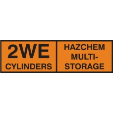 2WE Multi Cylinder Storage Placard Self Adhesive Vinyl