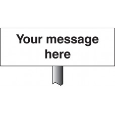 Your Message Here - White Powder Coated Aluminium 450 x 150mm (800mm Post)