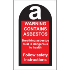 Roll of 100 Contains Asbestos Labels 27x50mm