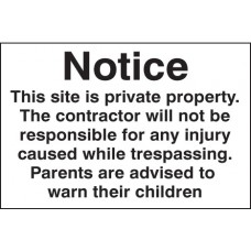 Notice this Site Is Private Property Etc