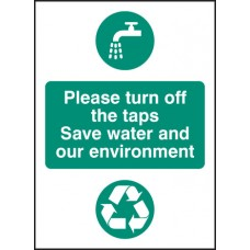 Please Turn Off the Taps, Self Adhesive Vinyl Water and Environment