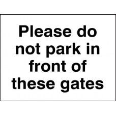 Please Do Not Park in Front of these Gates