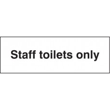 Staff Toilets Only