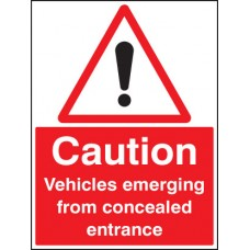 Caution Vehicles Emerging From Concealed Entrance
